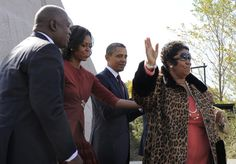 Aretha Franklin with Barack and Michelle Obama #ArethaSings