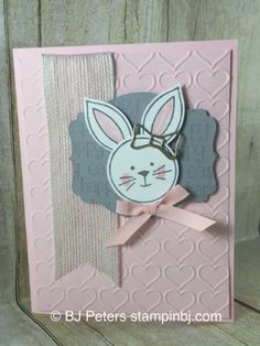 Friends & Flowers, Stampin' Up!, BJ Peters, Easter Lamb, Bow Paper Clips - SU - bunny