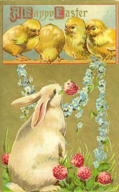 Vintage Easter postcard Easter images ПасхаРDecoupage Vintage, Vintage Easter, Vintage Holiday, Art Carte, Images Vintage, Easter Art, Easter Parade, Easter Printables, Vintage Greeting Cards