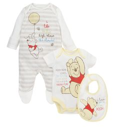 Mothercare Winnie the Pooh 3 Piece Set
