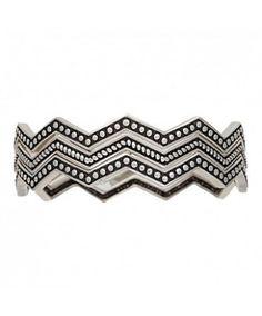 Rock 47 Pins and Needles Silver-Tone Triple Zig-Zag Bracelets