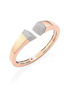 Roberto Coin - Prive Pave Diamond & 18K Rose Gold Bangle