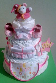 Girl diaper cake  http://www.facebook.com/tortedipannoliniBettysHeart
