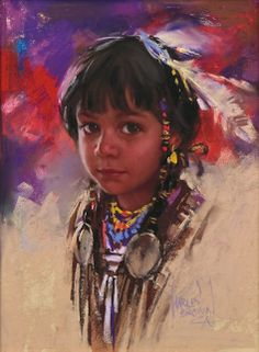 """Harley Brown """"Young Red Sparrow"""" pastel 12"""" x 9"""""""