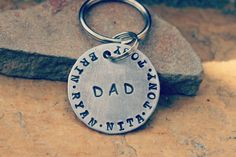 Father's Day keychain personalized Dad or par DieCutMetalCreations, $12.00