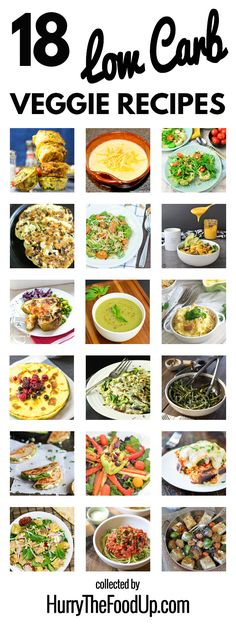 18 Low Carb Vegetarian Recipes #healthy #lowcarb | hurrythefoodup.com...