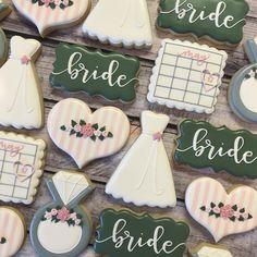 "870 Likes, 32 Comments - Maddie (@maddiescookieco) on Instagram: ""color pallet of my dreams . . . . . #weddingcookies #bridalcookies #bridalshower…"""