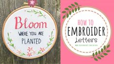 Embroidery For Beginners Embroidery for Beginners: How to Embroider Letters [ FREE Template!] - If you're keen to learn how to embroider letters, then read on to discover exactly how to master the essential stitches required. Hand Embroidery Patterns Free, Embroidery Stitches Tutorial, Embroidery Flowers Pattern, Simple Embroidery, Embroidery Techniques, Embroidery Ideas, Crochet Stitches, How To Embroider Letters, Embroidery Letters