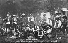 Gypsy encampment, Cotswolds U.K., early 1900s. Gypsies were a demonized though regular feature of Indiana life in 1913.