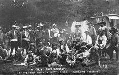 Gypsy Encampment - Cotswolds UK, early 1900's.