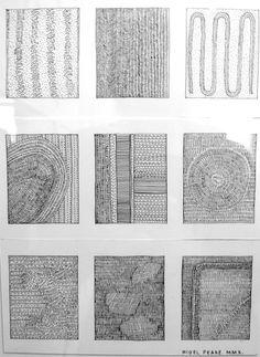 Nigel Peake's In The Wilds @ Needles + Pens Mark Making, Creative Textiles, Watercolor Workshop, Ks3 Art, Simple Line Drawings, Map Art, Jr Art, Ink Illustrations, Pattern Art