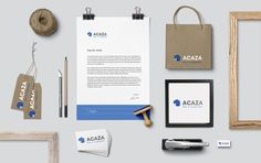 Acaza.be  -  logo & stationary design by www.agentorange.be
