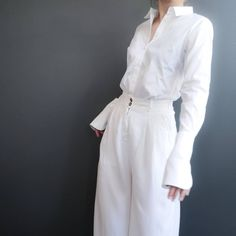 The women's basic shirt with double cuffs or extra long sleeves 🌼 ______________________________________ #oslounbranded #whiteshirt #sustainablebrands Cuffs, Bra, Long Sleeve, Sleeves, Shirts, Arm Warmers, Long Dress Patterns, Bra Tops, Dress Shirts