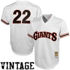 6ac488fc5dc Mitchell   Ness Will Clark San Francisco Giants 1989 Authentic Throwback  Mesh Batting Practice Jersey -