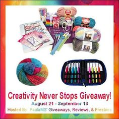 #Win a Prize Package to Help Express Your #Creativity! #Giveaway ends 9/13. #Crafts #Sewing #Knitting #Crocheting