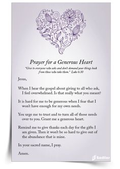 Download a Prayer for a Generous Heart and share it with your students or family to make mercy a part of your Lenten almsgiving.