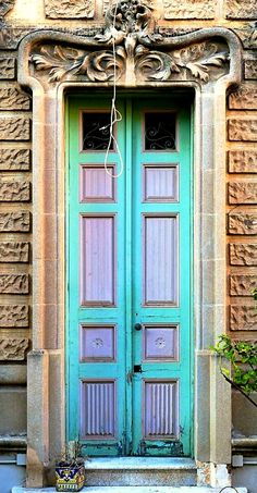 Beautiful door in Barcelona, Spain.