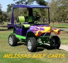 Custom Golf Cart Bodies, Custom Golf Carts, Golf Cart Body Kits, Custom Body Kits, Golf Carts For Sale, Golf Score, Play Golf, Vehicles, Mini