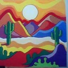 La riqueza del mantra - #del #LA #MANTRA #riqueza ... - #DEL #LA #mantra #riqueza Mexican Paintings, Desert Art, Southwest Art, Cactus Art, Diy Canvas Art, Mexican Art, Dot Painting, Landscape Art, Rock Art