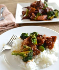 This General Tso's chicken recipe has more intensely flavored, tangy brown sauce, large chunks of crisp, juicy chicken, and lots of fresh crunchy broccoli.