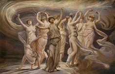 Die Plejaden. Gemälde von Elihu Vedder, 1885, Metropolitan Museum of Art, New York.