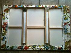 LifeWithDaugs: DIY Fabric Fireplace Screen