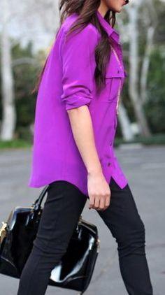 PURPLE!! I would love a purple neon top :)