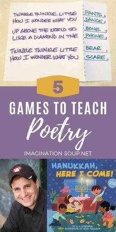 Teaching Poetry, Teaching Kids, Writing Lesson Plans, Writing Lessons, Poetry Activities, Activities For Kids, Poetry Books For Kids, New Books, Rhyming Pairs