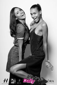 Emanuela de Paula and Arlenis Sosa having fun in the Hasselblad photo booth at the Models Issue Party presented by The Daily Front Row. Photo by: Jodi Jones shot with the Hasselblad HV DSLR