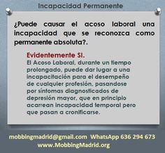 Mobbing Madrid PRIDICAM: ¿Puede causar el acoso laboral una incapacidad que... Madrid, Bullying
