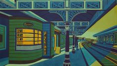 """Gail Brodholt """"Shadows In The City"""" linocut print"""