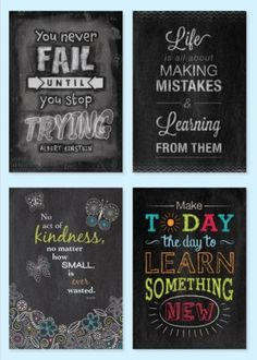 Check out all of the Inspire U poster line for great motivational quotes for the classroom, office, and more.
