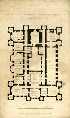 Architect's Plan of Loudoun Castle 1805 1st Floor