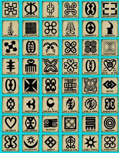 Adinkra Symbols I have seven of these!... And they all mean something to me!
