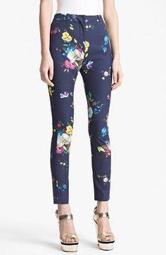 'Dauphine Night' Print Slim Trousers   $920.00