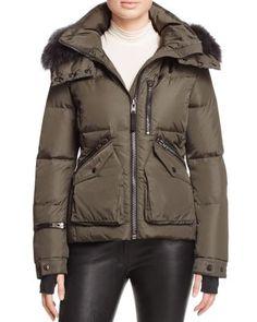 SAM. Jetset Fur-Trim Down Coat | Bloomingdale's