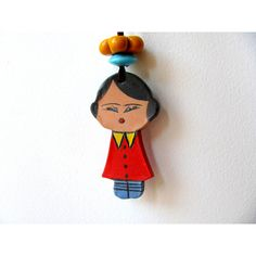 SiSi Ceramic Doll--Marionette home decor ($43) ❤ liked on Polyvore featuring home, home decor, ceramic home decor and handmade home decor