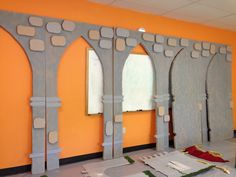 Arches and doors partially completed