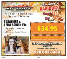 """542735ac04c Calling all ladies!! Don t miss Hotshots Haircuts s  14 haircut deal.  Offer. """""""