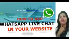 How to add WhatsApp live chat to your website Hello guy.my name is Pratigya welcome to my channel About this video- In this video, you can learn how to add . Cool Websites, Science And Technology, Web Development, Ads, Marketing, Live, Learning, Studying, Teaching