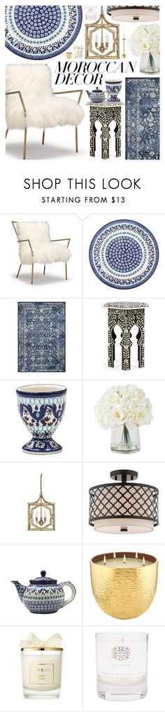 """Bohemian Dream"" by pastelneon ❤ liked on Polyvore featuring interior, interiors, interior design, home, home decor, interior decorating, Bunzlau Castle, Kas Rugs, I Love Living and Livex"