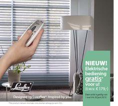Voorjaarscamapgne Luxaflex: in mei en juni 2015 krijg je bij bestelling van een aantal Luxaflex raamdecoratieproducten de luxe bedieningsopties GRATIS. Bij de grote Silhouette Shades is dit de elektrische PowerRise t.w.v. € 199. Bij Duette & Plissé Shades worden de SmartCord met intrekbaar koord en de met de hand bedienbare onderlat Lite Rise t.w.v. € 50 kosteloos meegeleverd. Dus geen loshangende trekkoorden, kettingen en banden meer die gevaarlijk kunnen zijn voor kinderen.