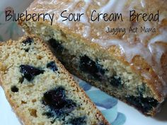 Blueberry Sour Cream Bread - Juggling Act Mama via Lady Behind the Curtain ~ 52 Blueberry Recipes