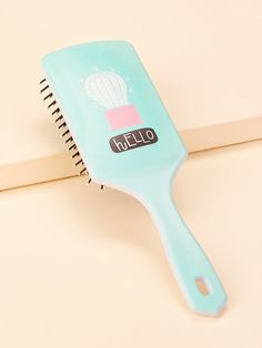Cactus Pattern Massage Comb - one-size