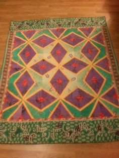 Donation quilt for Sari-Bari 2015 auction - made from old saris