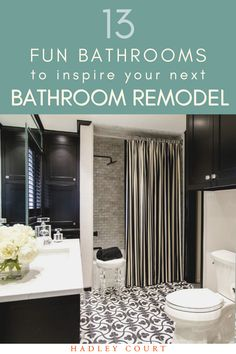 No matter your taste, you'll find bathroom designs here to inspire your next bathroom remodel. I'm having major bathroom envy for every photo on this list! Subway Tile Colors, Color Tile, Bathroom Trends, Bathroom Interior, Bathroom Designs, Next Bathroom, Silver Bathroom, Large Floor Tiles, Bathtub Decor