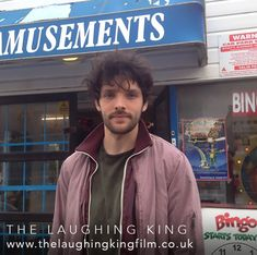 Photos and trailers from the film The Laughing King, starring Colin Morgan and Kerrie Hayes, co-written by Lindy Heymann and Leigh Campbell.