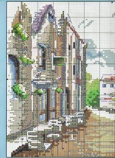 Paesaggio urbano a punto croce
