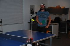 Dave Grohl playing ping pong