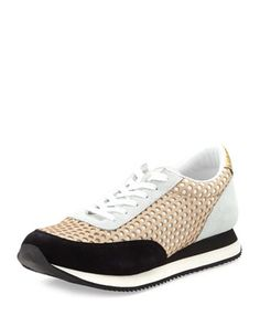 Stay comfortable. We love these Loeffler Randall sneakers for weekend errands (and for casual Fridays if your office allows).
